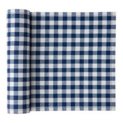 "MYdrap - Cotton Vichy Napkin, Blue Vichy - Do those fresh checks say ""picnic"" to you? You're in luck: These cotton napkins come on a roll and are perfect for a festive outdoor affair. More stylish and substantial than paper napkins, they will add some cheer to your spread and won't blow away as easily. But if you do lose one, no big deal — they are intended for only up to six uses. Keep them and wash them, or discard; it's up to you."