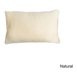 None - Natural Nelson Sheepskin Pillow - Add a rustic feel to your sofa or bed with this natural Nelson sheepskin pillow. This rectangular pillow is filled with fluffy polyester for comfort,and the nature-inspired color scheme ensures that it matches your existing decor.