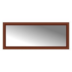 """Posters 2 Prints, LLC - 59"""" x 24"""" Ansley Cherry Custom Framed Mirror - 59"""" x 24"""" Custom Framed Mirror made by Posters 2 Prints. Standard glass with unrivaled selection of crafted mirror frames.  Protected with category II safety backing to keep glass fragments together should the mirror be accidentally broken.  Safe arrival guaranteed.  Made in the United States of America"""