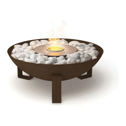EcoSmart Fire Dish - With its authentic finish, stylish contours and portable construction, the EcoSmart Fire Dish is the perfect drawcard for entertaining outdoors. Specifically designed to use on your balcony deck, patio, courtyard or pool pavers, Dish captures the warmth and ambiance of a campfire without dangerous sparks and messy soot.