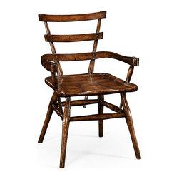 Jonathan Charles - New Jonathan Charles Chair Dark Brown Oak - Product Details