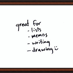 Amanti Art - 'Bella Noce Glass Dry-Erase Board - Medium' Framed Art Print 31 x 25-inch - Perfect for writing and drawing, this glass message board works with standard dry erase markers (not included).This Bella Noce Glass Dry-Erase Board features a walnut frame accented by outer raised lip sloping to a dark inner ridge in rich coffee shades of brown and black.