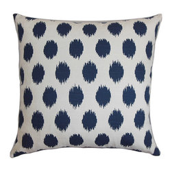 The Pillow Collection - Faustine Blue 18 x 18 Ikot Throw Pillow - - Pillows have hidden zippers for easy removal and cleaning  - Reversible pillow with same fabric on both sides  - Comes standard with a 5/95 feather blend pillow insert  - All four sides have a clean knife-edge finish  - Pillow insert is 19 x 19 to ensure a tight and generous fit  - Cover and insert made in the USA  - Spot clean and Dry cleaning recommended  - Fill Material: 5/95 down feather blend The Pillow Collection - P18-PP-CHIPPER-NAVY-C100