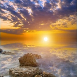 Limitless Walls - Sea Of Clouds Wall Mural - Our innovative wall murals are the only pressure sensitive canvas wall coverings on the market. Get the luxurious look and feel of canvas without cleaning out your wallet. Our canvas is 14 mils thick making it easy to install and creates a protective barrier for your walls. Every wall mural is completely removable and repositionable countless times without damaging your walls and paint. Our products are  green being P.V.C. free.