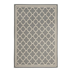"Safavieh - Courtyard Gray/Brown Area Rug CY6918-246 - 8' x 11'2"" - Safavieh takes classic beauty outside of the home with the launch of their Courtyard Collection. Made in Belgium with enhanced polypropylene for extra durability, these rugs are suitable for anywhere inside or outside of the house. To achieve more intricate and elaborate details in the designs, Safavieh used a specially-developed sisal weave."