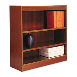 Alera - Alera BCS33636MC Square Corner Wood Veneer Bookcase - Medium Cherry Multicolor - - Shop for Bookcases from Hayneedle.com! About AleraWith the goal of meeting the needs of all offices -- big or small casual or serious -- Alera offers an excellent line of furnishings that you'll love to see Monday through Friday. Alera is committed to quality innovative design precision styling and premium ergonomics ensuring consistent satisfaction.