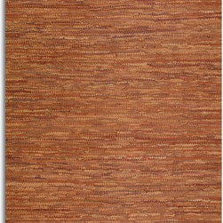 Uttermost - Uttermost Everit Rust Transitional Hand Woven Rug X-8-06017 - Hand woven rescued rust brown leather and cotton. This rug is not recommended for high traffic areas.