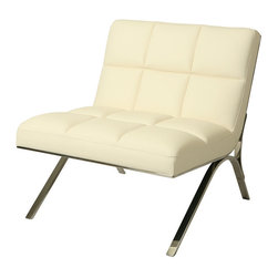 Pastel - Club Chair in Ivory - The Ragusa club chair is a smart and modern design blends quality, value, style as well as comfort to any room.