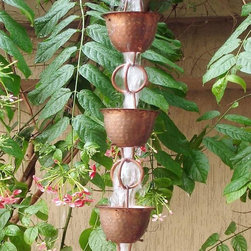 None - Hammered Cup with Ring Rainchain - This unique and functional rainchain is a great way to add character to any home  Serves as an alternative to spouts as well as an outdoor decoration that adds a calm and soothing ambiance to any yard