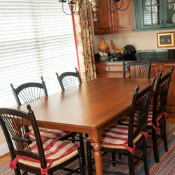 Middleton Farm Table - Custom made cherry farm table.  42 x 74 x 30.  Designed by the client. Photographs by Val Nyce Photography.
