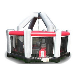 EZ Inflatables Wrecking Ball Bounce House - This bounce house is a bit of a splurge but will provide hours of fun for older children and adults. Inside, you can stand on large pedestals while a big inflatable wrecking ball on a sturdy cord tries to knock you off.