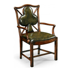 Jonathan Charles - New Jonathan Charles Game Chair Walnut Clubs - Product Details