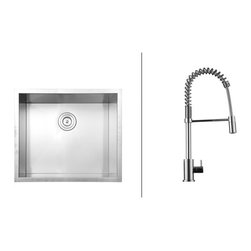 Ruvati - Ruvati RVC2591 Stainless Steel Kitchen Sink and Chrome Faucet Set - Ruvati sink and faucet combos are designed with you in mind. We have packaged one of our premium 16 gauge stainless steel sinks with one of our luxury faucets to give you the perfect combination of form and function.