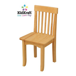 KidKraft - Avalon Single Chair, Natural by Kidkraft - Our heirloom-quality Avalon Chair is crafted form solid wood to endure rigorous use through childhood. Available in a variety of colors, mix and match the chairs for a customized look that enhances the decor of your child's room.