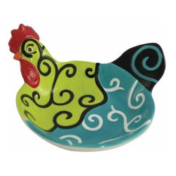 WL - 2.25 Inch Whirl of Swirls Decorated Collectible Rooster Appetizer Bowl - This gorgeous 2.25 Inch Whirl of Swirls Decorated Collectible Rooster Appetizer Bowl has the finest details and highest quality you will find anywhere! 2.25 Inch Whirl of Swirls Decorated Collectible Rooster Appetizer Bowl is truly remarkable.