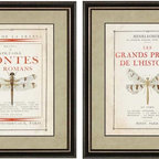 Paragon Decor - French Insects I Set of 2 Artwork - Insects are up-scaled with French flair.
