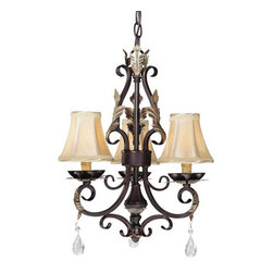 Minka Lavery - Minka Lavery ML 1773 3 Light 1 Tier Candle Style Crystal Chandelier from the Bel - Three Light Single Tier Candle Style Crystal Chandelier from the Bellasera CollectionFeatures:
