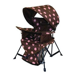 SwimWays Corp. - Go with Me Chair Brown Pink - Kelsyus Go with Me Chair - Portable lightweight indoor/outdoor chair that grows with child.