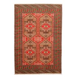 eSaleRugs - 6' 7 x 9' 8 Torkaman Persian Rug - SKU: 22155751 - Hand Knotted Torkaman rug. Made of 100% Wool. Brand New.