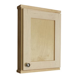 None - Shaker Series 18-inch Natural Finish 2.5-inch Deep Inside On The Wall Cabinet - Add a little bit of extra storage to you living area with one of these bathroom wall storage cabinets. The natural finish gives the cabinet a homey feeling. Two glass shelves offer plenty of space for brushes,toothpaste,and other essentials.