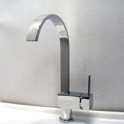 JollyHome - JollyHome Single Handle Chrome Kitchen Faucets - Complete parts and all install fittings are included.Water pressure tested for industry standard.Easy to keep clean and maintain.Ceramic valve core