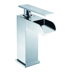 CAE - CAE Single-Handle Chrome-Finished Bathroom Sink Faucet - This tasteful single handle bathroom sink faucet will add a modern touch to any decor. The easy-to-install sink faucet features a polished chrome finish and a custom-designed lever handle that will instantly modernize your bathroom.