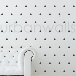 Small Polka Dots Wall Decals, Set of 80 - Don't want to be committed to wallpaper? These decals are perfect for renters and homeowners alike. Easy to adhere and easy to remove, they are a snap to add a bit of pizzazz to bare walls.