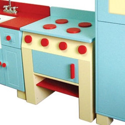 A+ Childsupply Country Kitchen - Stove - About A+ Child Supply, Inc.For over 10 years, A+ ChildSupply has been supplying high quality products for use in schools, daycares and homes. Their design team has developed an extensive series of preschool furniture with safety, durability and beauty as top priorities. Every product built in their factory undergoes an extensive battery of tests and is compliant with all laws and regulations as set forth by the CPSC (Consumer Products Safety Commission) and is also compliant with European standards of EN-71. Each product is designed with protective corners and edges, moisture- and stain-resistant finishes, durable construction methods, environmentally friendly wood, renewable resources, innovation and superior quality and value.