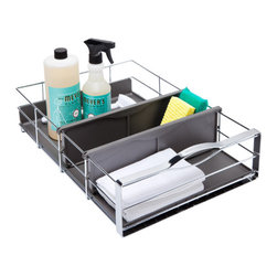 simplehuman® Medium Pull-Out Cabinet Organizer - This type of aftermarket cabinet organizer is hard to beat for the price. Banish your clutter.