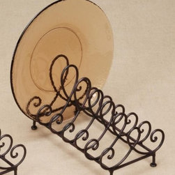 """Baldwin Metal 6 Place Plate Holder for 8""""-11"""" Dia Plates - Make a statement with our Baldwin Multiple Plate Rack Stand."""