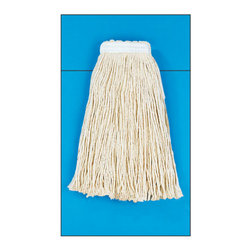 "UNISAN - #20 CTTN MOP HEAD - Four-ply, cut-end yarn. Absorbent natural cotton fiber for general mopping. Rayon has immediate absorbency and wet release properties ideal for finishing. Cotton/synthetic blend absorbs 5.5 times its weight in water. Standard heads use clamp style mop handles; saddleback heads use clamp or gripper style handles; lieflat heads use lieflat screw-in handles (all sold separately). 12 mop heads per case.. . . . Value Standard Head. Cotton #20. High-quality fiber.  1 1/4"" polyester headband. #20 Mop Size. Cut-End Mop Heads. Dimensions: Height: 0.53133, Length: 0.53133, Width: 0.53133. Country of Origin: US   CAT: Mops, Brooms & Brushes Mops & Equipment Cut-End Mop Heads"