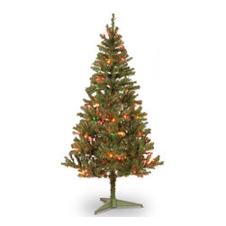 National Tree Company - 6-foot Canadian Fir Grande Wrapped Tree with 200 Multicolor Lights - Get your home ready for the holidays with this 6-foot Canadian Grande Fir Wrapped Tree with 200 multicolored lights. The stately tree is fire-resistant and non-allergenic,so you have less to worry about over the holidays.