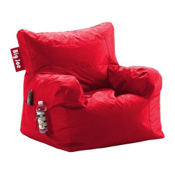 Comfort Research - Comfort Research Big Joe Dorm Chair - Flaming Red - The Big Joe Dorm Chair is one more reason why college is the best four years of your life! This chair has it all: a drink holder, pocket and easy-carry handle. Don't wait for college to use it though. Put it in your bedroom or family room today! Made with tough, stain and water-resistant SmartMax Fabric. Filled with UltimaX Beans that conform to you. Double stitched and double zippers. Spot clean.