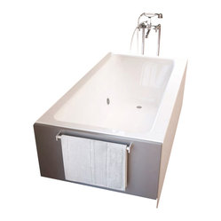 Spa World Corp - Atlantis Tubs 3260SHL Soho 32x60x20 Inch Rectangular Soaking Bathtub - The Soho series bathtub is sculpted in a contemporary style that allows for a soothing soak with a modern twist. Apron style construction combines design features of a freestanding bathtub, with a built-in front skirt panel and open sides for custom finishing.