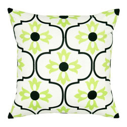 Rizzy Home - Rizzy Home Vicki Payne Trellis Print Decorative Throw Pillow - T05645 - Shop for Pillows from Hayneedle.com! Only designer Vicki Payne could create something as fresh and stylish as the Rizzy Home Vicki Payne Trellis Print Decorative Throw Pillow. Just the accent piece you crave this throw pillow is made with a 100% cotton cover accented by a Moroccan-inspired pattern in your choice of color combo. It's finished with a hidden side zipper and removable plush insert. Machine wash the cover on gentle and lay flat to dry.About Rizzy HomeRizwan Ansari and his brother Shamsu come from a family of rug artisans in India. Their design color and production skills have been passed from generation to generation. Known for meticulously crafted handmade wool rugs and quality textiles the Ansari family has built a flourishing home-fashion business from state-of-the-art facilities in India. In 2007 they established a rug-and-textiles distribution center in Calhoun Georgia. With more than 100 000 square feet of warehouse space the U.S. facility allows the company to further build on its reputation for excellence artistry and innovation. Their products include a wide selection of handmade and machine-made rugs as well as designer bed linens duvet sets quilts decorative pillows table linens and more. The family business prides itself on outstanding customer service a variety of price points and an array of designs and weaving techniques.