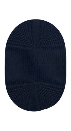 Colonial Mills - Colonial Mills Boca Raton BR52 Navy Rug BR52R060X096 5x8 - Just pick a coloreany colorethey are all here! This colorful outdoor rug utilizes a simple flat braid construction in an array of colors to put a fashionable stamp on your decor.