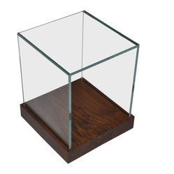 Salvaged Wood and Glass Side Table