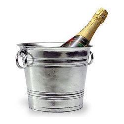 Match Pewter - Champagne Bucket by Match Pewter - This impressive pewter bar collection from Match pewter wont go unnoticed at your next gathering. A collection handmade in northern Italy, each piece bears a stamped symbol from the region in which it was made.