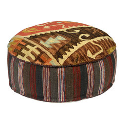 Habitat Home & Garden - Chunni Pouf - The Chunni Pouf is a beautiful piece to add extra seating to your home, or to use as a foot rest. Upholstered in a quality wool and cotton fabric, this colorful piece will add flair to your decor.