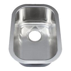 "Ellis - 12"" Ellis Stainless Steel Undermount Kitchen Sink Small Single Bowl, Bar, Island - Ellis Sink and Custom Sink Grid"