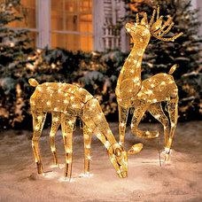Gold Mesh Lighted Reindeer Kit