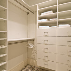 Transitional Closet by Benco Construction