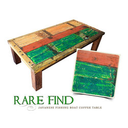 Brilliant Imports : The Bali Collection ~ Rare Finds - {NEW} JAVANESE FISHING BOAT COFFEE TABLE