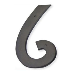 Atlas - Mission House Number 6 - RCN6-O (Aged Bronze) - Color: Aged BronzeManufacturer SKU: RCN6-O. Includes necessary mounting hardware. Projection: 0.25 in.. Made from metal. 5.5 in. L x 3 in. W