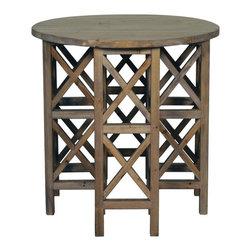 NOIR - NOIR Furniture - Zimmerman Side Table Metal with Old Wood - GTAB292OW - Features: