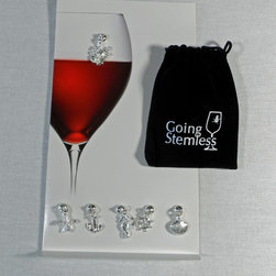 Magnetic Wine Charms and Pouch -