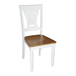 Wooden Imports Furniture - Plainville Chair w Wooden Seat - Set of 2 - Set of 2. 100% Solid Parawood. Environmentally conscious. 18.50 in. W x 18.50 in. D x 42 in. H (19 lbs.)