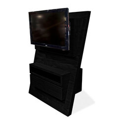 Armen Living - Aspen TV Stand, Espresso - This is a unique item, custom designed for Armen Living. A substantial piece sure to make a high-end statement in the modern home.