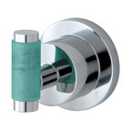 Kingston Brass - BA8217CDGL Green Eden 2-1/2 inch Robe Hook With Neoprene Sleeve, Chrome - The perfect way to give the finishing touches to your bathroom is by adding these matching bath accessories, all with matching Neoprene inserts, available in Polished Chrome and satin Nickel.