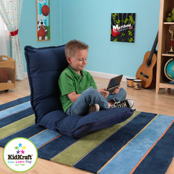 KidKraft - Adjustable Lounger For Kids in Denim Color - This Adjustable Lounger in Denim color for kids have a nice adjustable back and feet. It can be used in several positions. It is Made of velour fabric with a steel frame and can be Adjusts in any room in seconds.